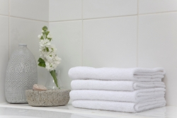 Luxury towels at Cheltenham hotel cameo