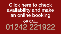 Click here to check availability and make an online booking or call 01242 221922