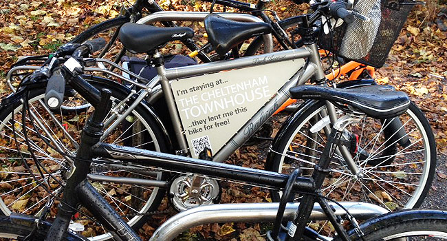 Free bike hire at the Cheltenham Townhouse Hotel
